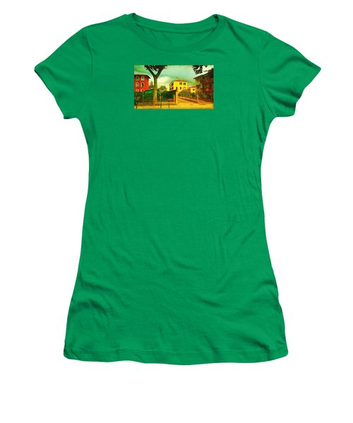 Women's T-Shirt (Junior Cut) featuring the photograph The Yellow House by Anne Kotan