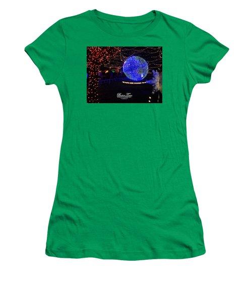 Trail Of Lights World #7359 Women's T-Shirt (Junior Cut) by Barbara Tristan