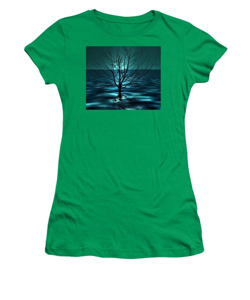 Tree In Ocean Women's T-Shirt