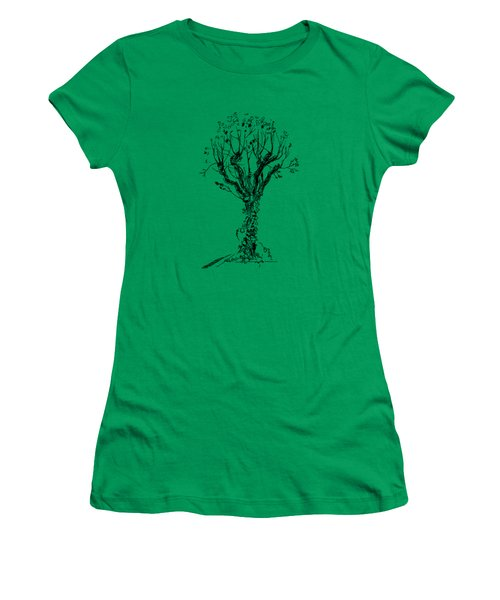 Tree With Bindweed Women's T-Shirt (Athletic Fit)