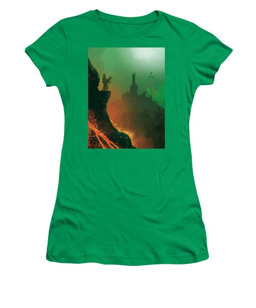 Undersea Volcano Women's T-Shirt (Athletic Fit)