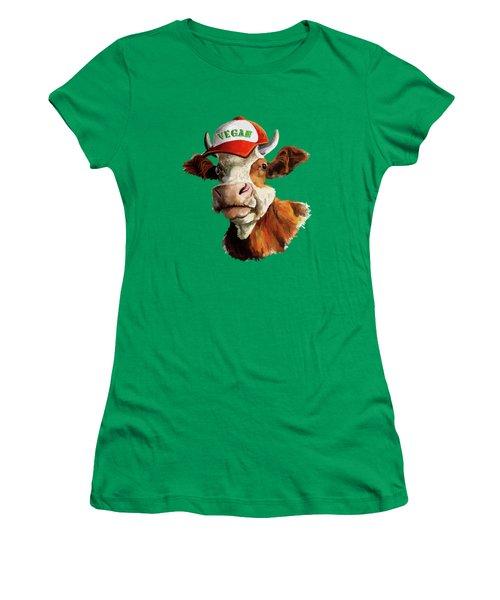 Vegan Women's T-Shirt (Junior Cut) by Anthony Mwangi