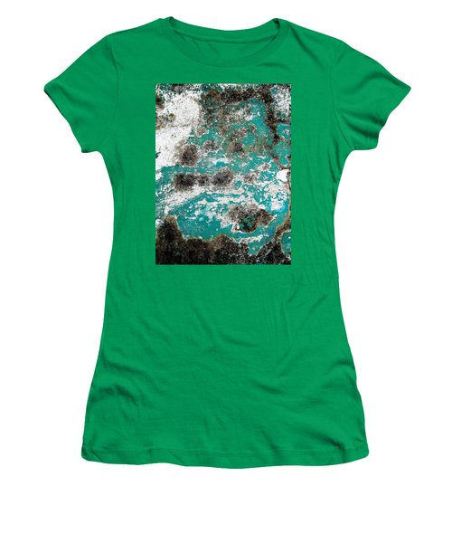Women's T-Shirt (Junior Cut) featuring the photograph Wall Abstract 171 by Maria Huntley