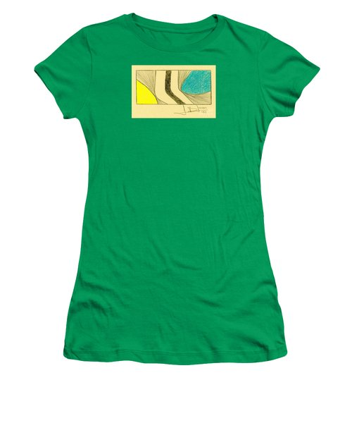 Waves Blue Yellow Women's T-Shirt