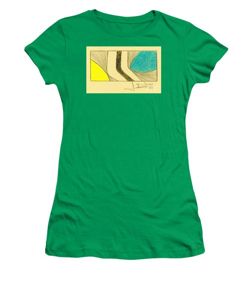 Waves Yellow Blue Women's T-Shirt