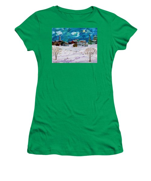 Winter Village Women's T-Shirt (Athletic Fit)