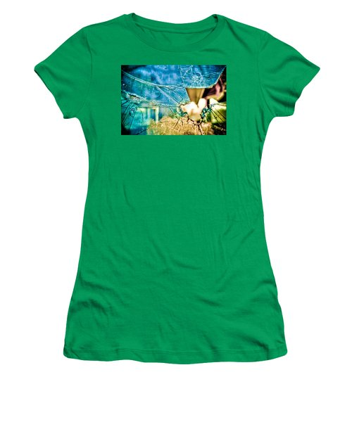 Women's T-Shirt (Athletic Fit) featuring the photograph World In My Eyes by TC Morgan