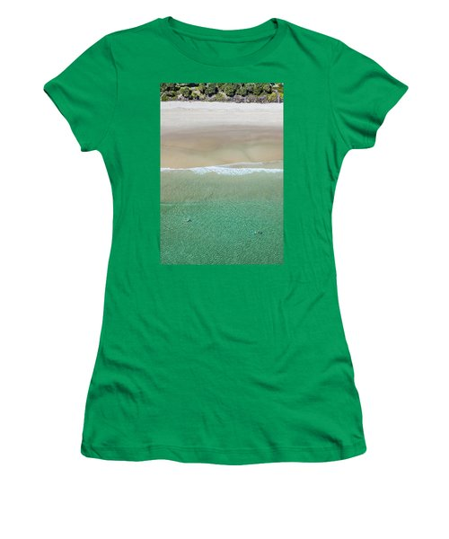 Women's T-Shirt featuring the photograph Byron Bay Swimmers by Chris Cousins