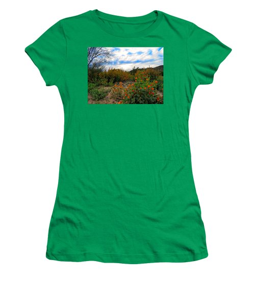 Desert Wildflowers In The Valley Women's T-Shirt