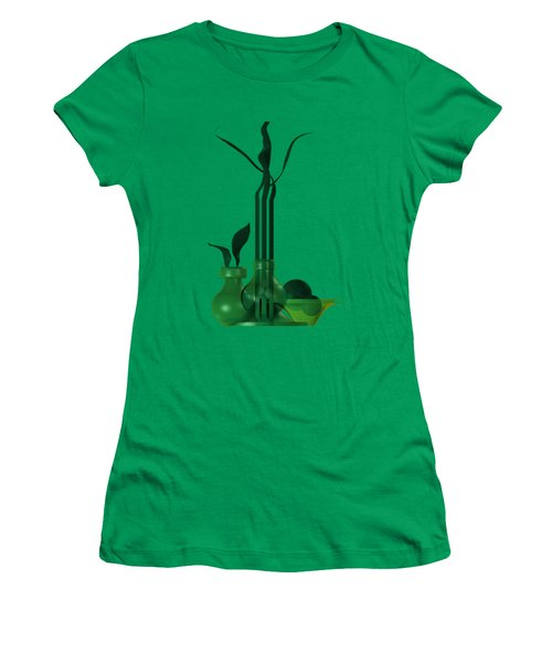 Green Still Life With Cool Elements Women's T-Shirt