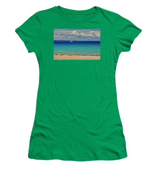 Lake Huron Sailboat Women's T-Shirt