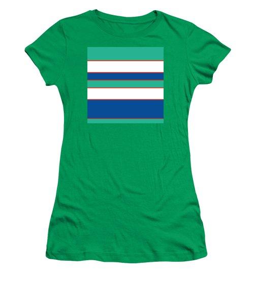 Stacked - Sea Foam, Orange, Navy And White Women's T-Shirt