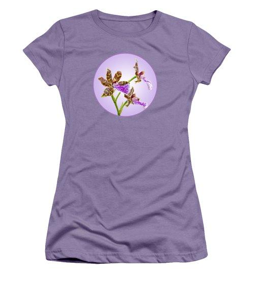 Bold And Beautiful - Zygopetalum Orchid Women's T-Shirt (Junior Cut) by Gill Billington