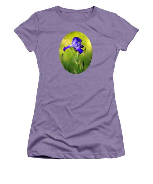 Violet Iris Women's T-Shirt (Junior Cut) by Christina Rollo