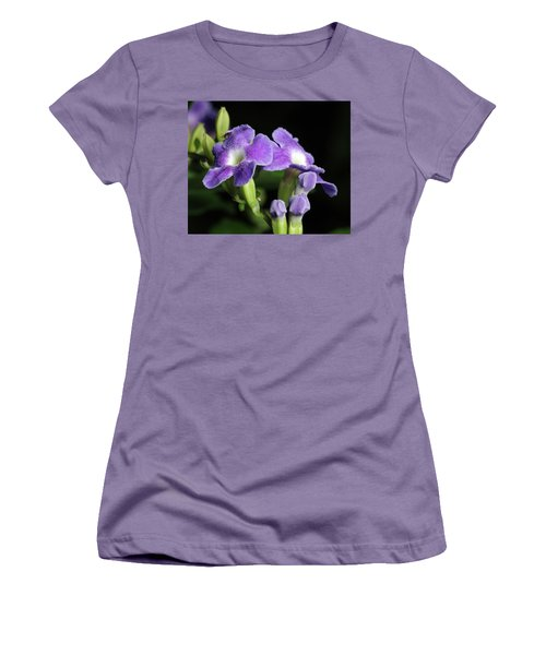Women's T-Shirt (Junior Cut) featuring the photograph Fruit Fly On Golden Dewdrop by Richard Rizzo