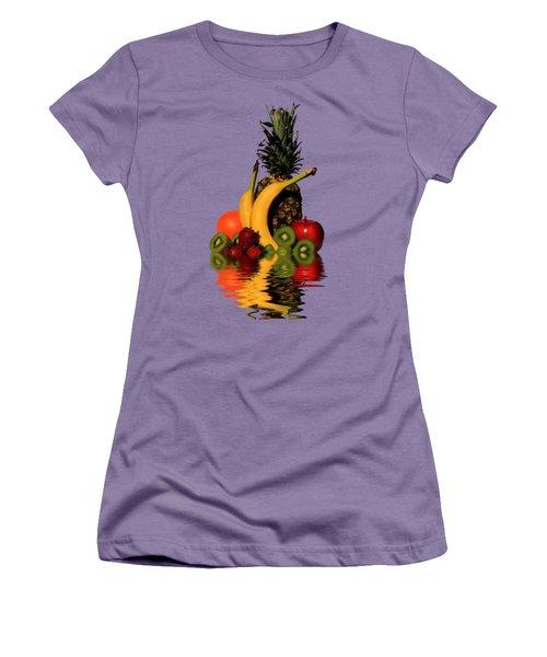 Fruity Reflections - Medium Women's T-Shirt (Junior Cut) by Shane Bechler