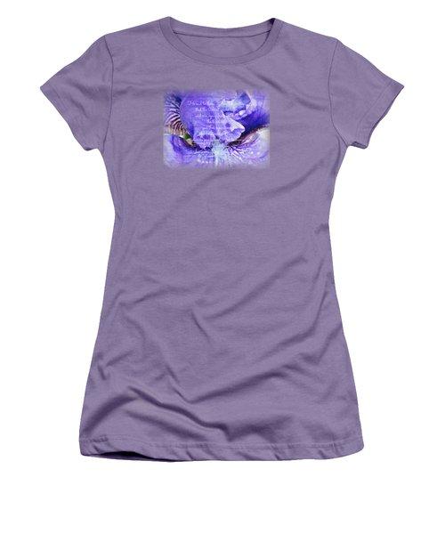 Pretty Purple - Verse Women's T-Shirt (Junior Cut) by Anita Faye