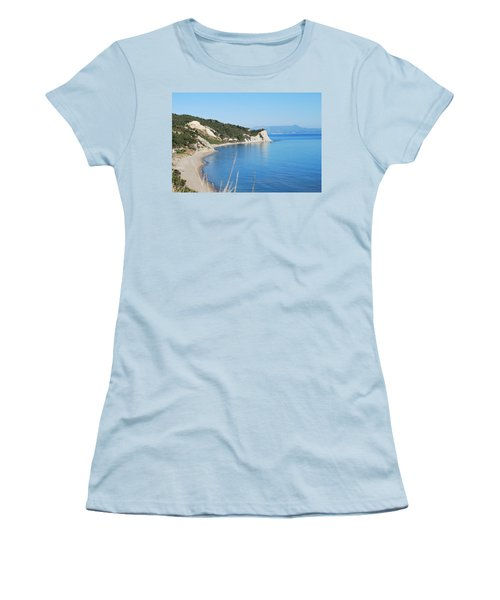 Women's T-Shirt (Junior Cut) featuring the photograph  Beach by George Katechis