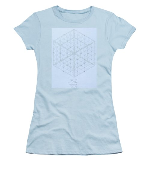 Why Energy Equals Mass Times The Speed Of Light Squared Women's T-Shirt (Junior Cut) by Jason Padgett