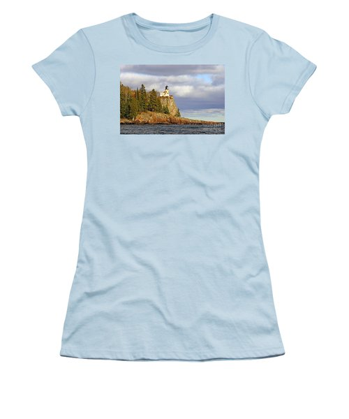 0376 Split Rock Lighthouse Women's T-Shirt (Athletic Fit)