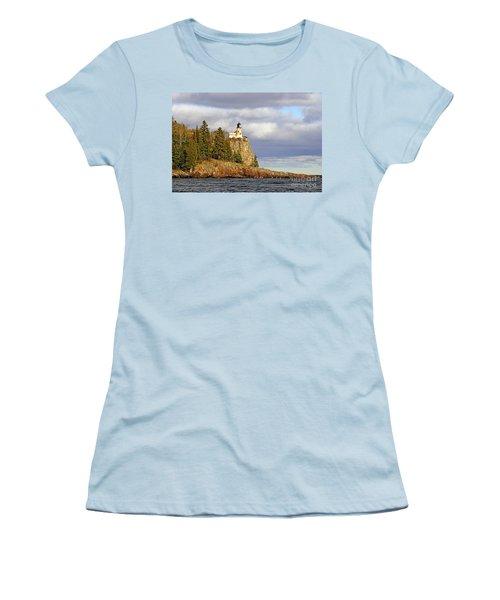 0376 Split Rock Lighthouse Women's T-Shirt (Junior Cut) by Steve Sturgill