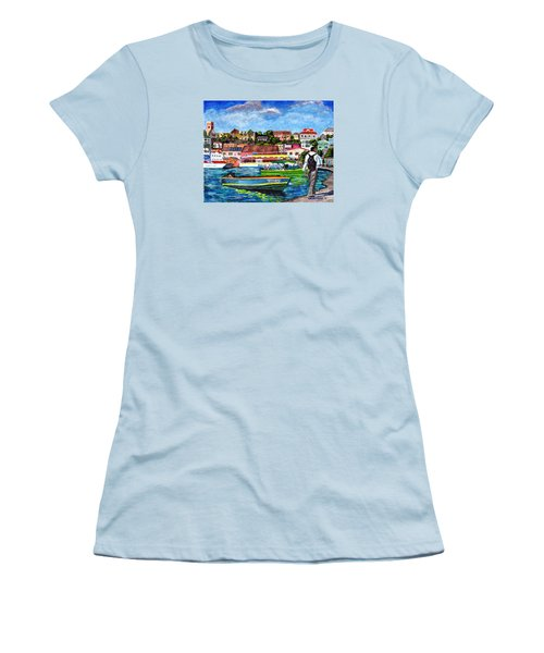 A Stroll On The Carenage Women's T-Shirt (Junior Cut) by Laura Forde