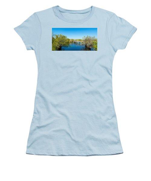 Anhinga Trail Boardwalk, Everglades Women's T-Shirt (Athletic Fit)