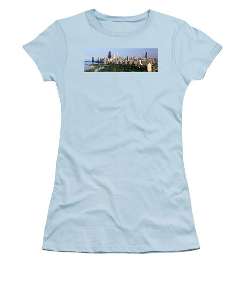 Buildings In A City, View Of Hancock Women's T-Shirt (Athletic Fit)