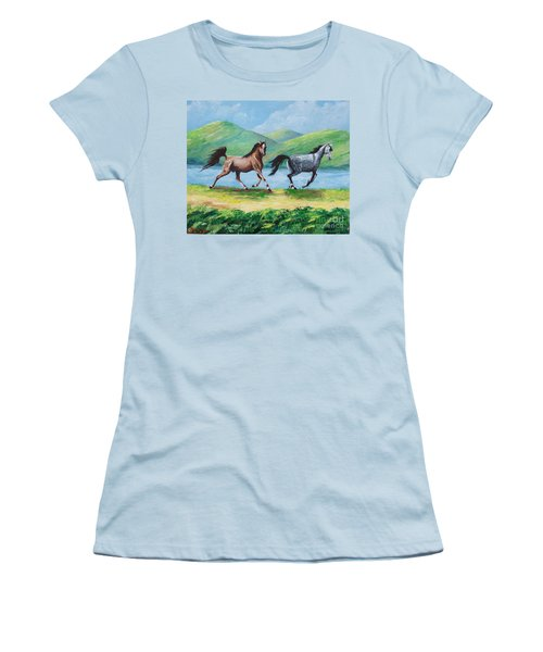Colt And Mare Women's T-Shirt (Athletic Fit)