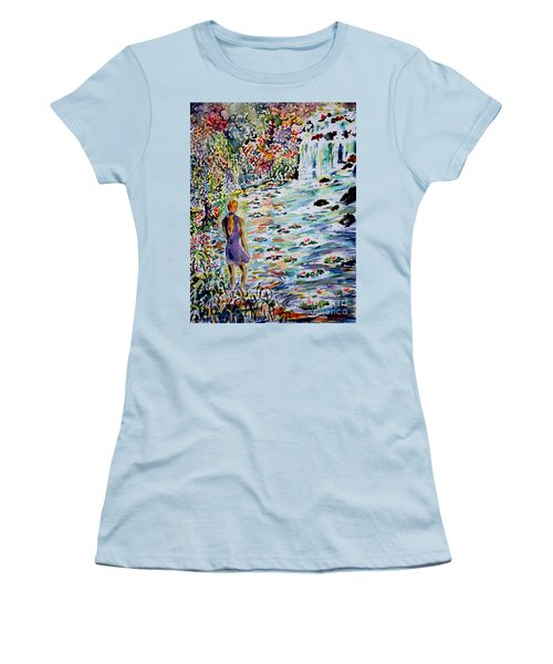 Women's T-Shirt (Junior Cut) featuring the painting Daughter Of The River by Alfred Motzer