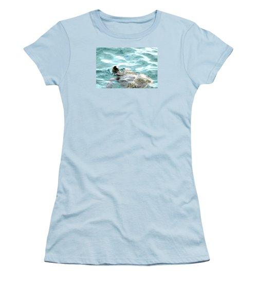 Women's T-Shirt (Junior Cut) featuring the photograph Kamakahonu, The Eye Of The Honu  by Lehua Pekelo-Stearns