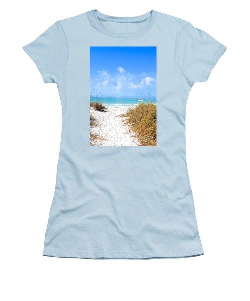 Women's T-Shirt (Junior Cut) featuring the photograph Anna Maria Island Escape by Margie Amberge
