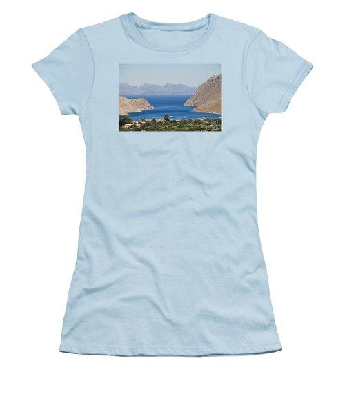 Pedi Bay Symi Women's T-Shirt (Athletic Fit)