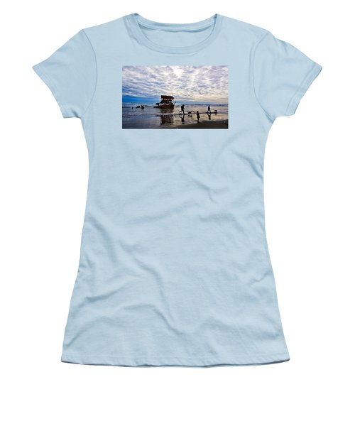 Peter Iredale Shipwreck, Fort Stevens Women's T-Shirt (Athletic Fit)