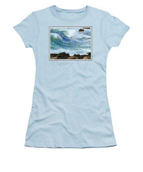 Rough Seas Women's T-Shirt (Junior Cut) by Mariarosa Rockefeller