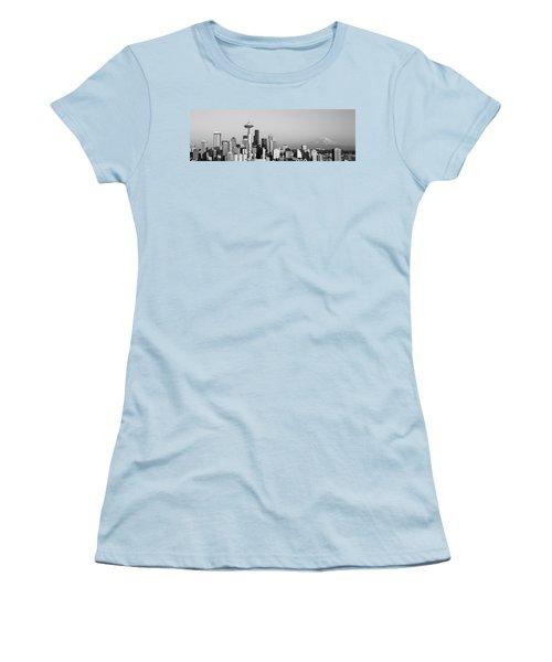 Skyline, Seattle, Washington State, Usa Women's T-Shirt (Junior Cut) by Panoramic Images