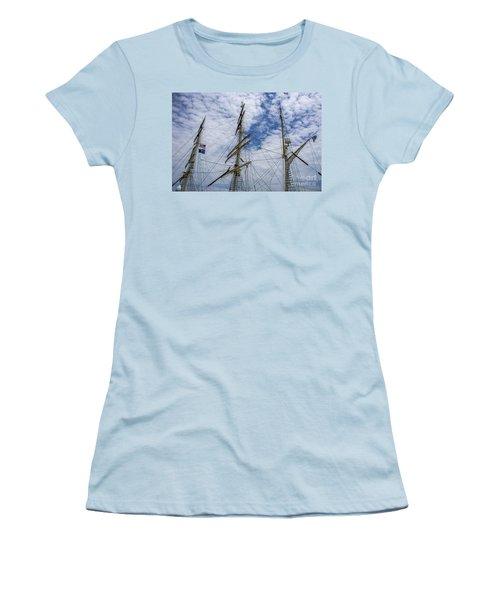 Tall Ship Three Mast  Women's T-Shirt (Junior Cut) by Dale Powell