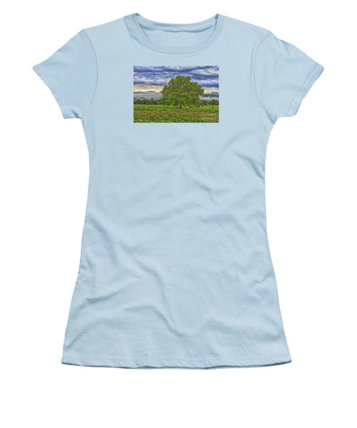 Women's T-Shirt (Junior Cut) featuring the photograph The Tree by Geraldine DeBoer