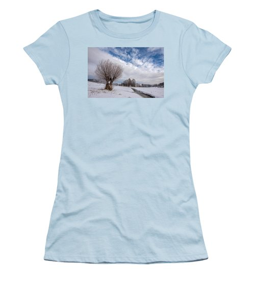Women's T-Shirt (Junior Cut) featuring the photograph Willow by Davorin Mance