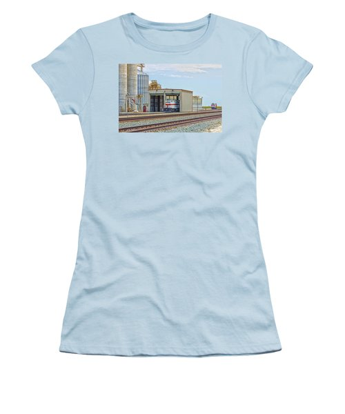 Foster Farms Locomotives Women's T-Shirt (Junior Cut) by Jim Thompson