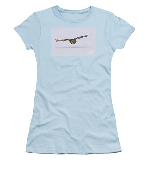 Great Gray Owl Women's T-Shirt (Junior Cut) by Michael Cummings