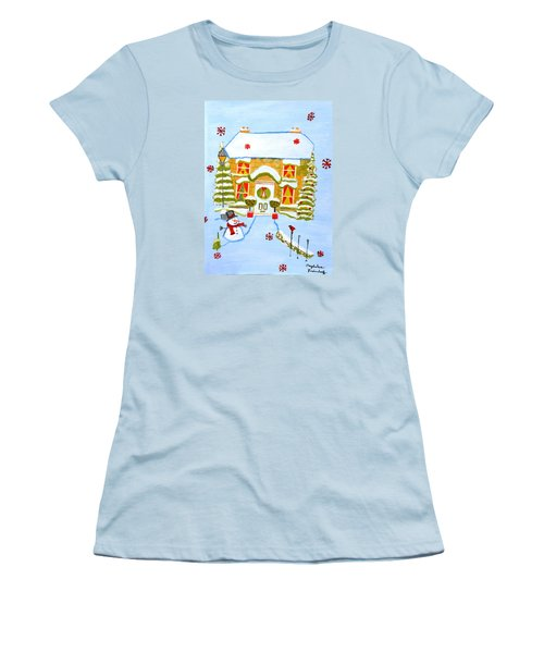 Merry Christmas Women's T-Shirt (Junior Cut) by Magdalena Frohnsdorff