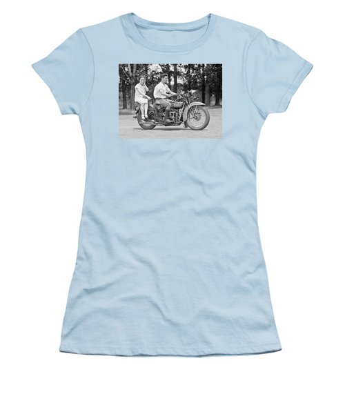 1930s Motorcycle Touring Women's T-Shirt (Athletic Fit)