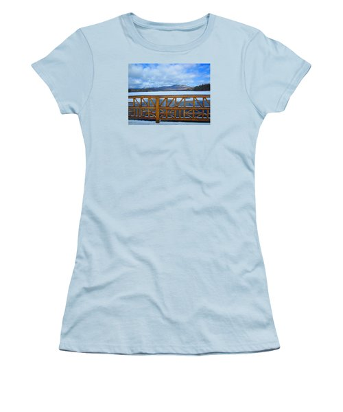 Winter At Chocorua Lake  Women's T-Shirt (Athletic Fit)