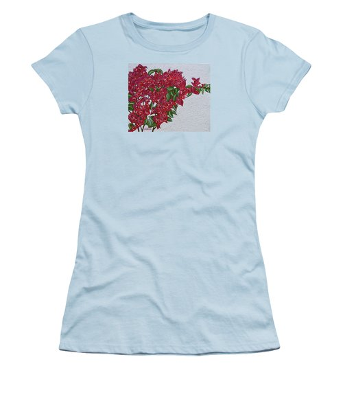 Bougainvillea Women's T-Shirt (Junior Cut) by Donna  Manaraze