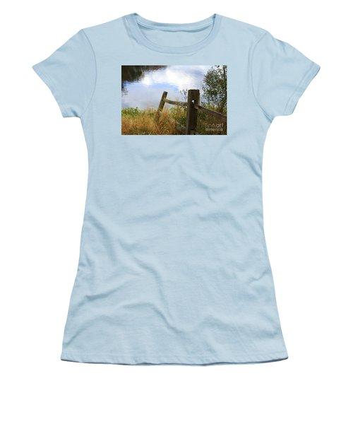 Cloud Reflections Women's T-Shirt (Junior Cut) by Deborah Benoit