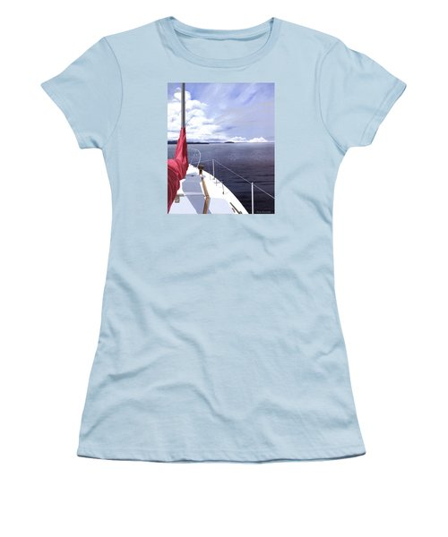 Women's T-Shirt (Junior Cut) featuring the painting Cruising North by Gary Giacomelli