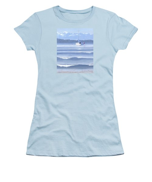 Women's T-Shirt (Junior Cut) featuring the painting From The Beach by Gary Giacomelli