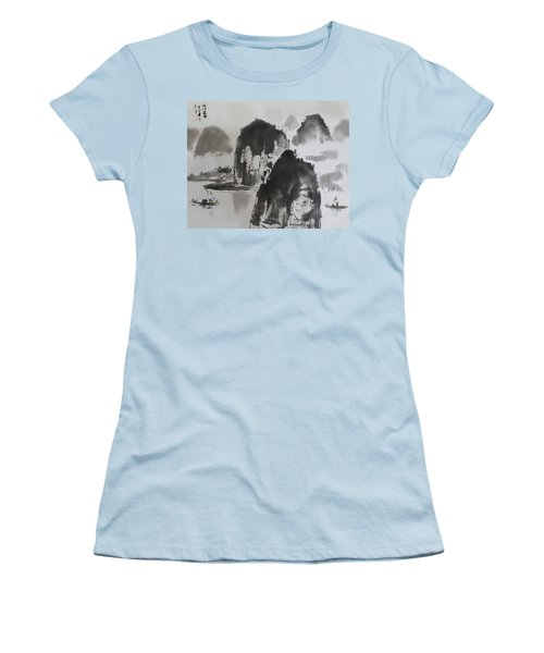 Li River Women's T-Shirt (Junior Cut) by Yufeng Wang