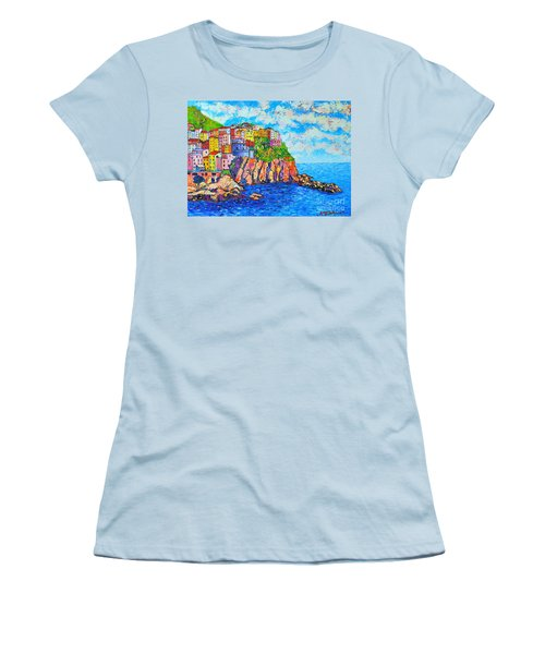 Manarola Cinque Terre Italy  Women's T-Shirt (Athletic Fit)